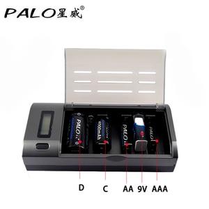 Image 4 - Зарядное устройство PALO C906w, устройство для быстрой зарядки АА, ААА, С, D, 9 В, экологически чистое, черного цвета