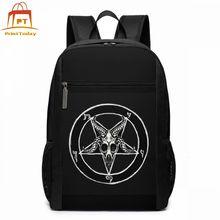 Pentagrama mochila pentagrama mochilas impressão saco de escola homem mulher de alta qualidade multi purpose estudante sacos