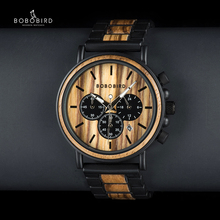 BOBO kuş benzersiz arama kronometre bambu ahşap saatler erkekler kol saati tarih oluşturmak saat hediye ahşap kutu içinde saat erkek