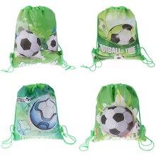 4 стиля из нетканного полотна Футбол традиционные подарочные сумки, сумки на открытом воздухе шнурок школьный рюкзак для детей, мальчиков рюкзак обувь одежда сумки