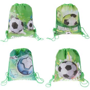 4style nietkane materiały piłka nożna ściągana sznurkiem na prezent torby Cartoon plecak ze sznurkiem dzieci chłopcy plecak buty torby na ubrania tanie i dobre opinie ZTBBAO Włókniny tkaniny Drawstring backpack