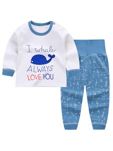 Sleepwear 0-2-Years-Old Pants Baby Cotton Cartoon Pajamas-Sets Tops Spring Girls Autumn
