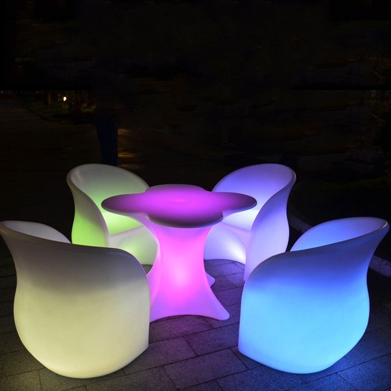 LED Rechargeable Lilluminated Leisure Chair Armchair Glowing Led Bar Chair Living Room Furniture Bar Disco Salon Supplies