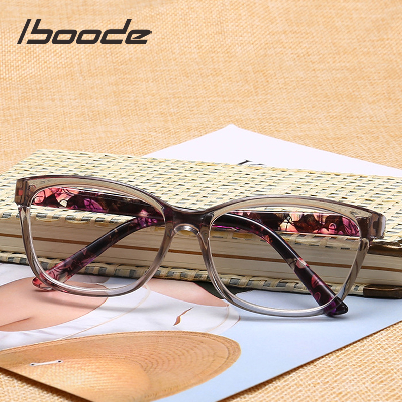 Iboode New Trendy Cat Eye Reading Glasses Men Women Unisex Computer Prescription Glasses Radiation Eye Protection Eyewear +1.0-4