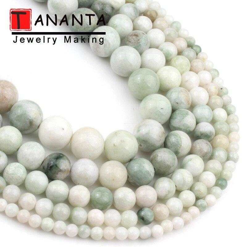 14mm white jade Round Gemstones Loose Beads 15 inch new 4//6//8//10//12