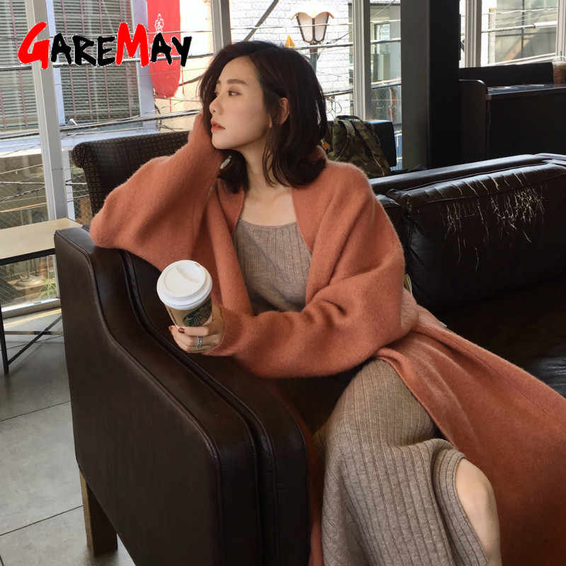 winter sweater cardigan women loose long sleeve knitted female cardigan autumn Casual knit long cardigan Jacket Coat women's