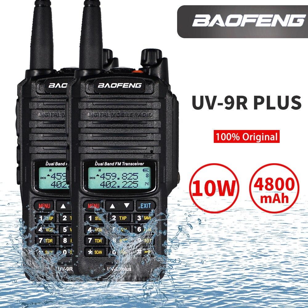 2PCS Baofeng UV-9R Plus 10W Walkie Talkie High Power Waterproof Protable CB Ham Hunting Radio UV 9R Plus Dual Band Two Way Radio
