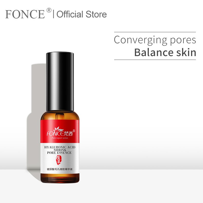 Fonce Face Serum Hyaluronic acid Smear Liquid Firming Cream Shrink Pores Remove Blackhead acne Treatment Moisturizing