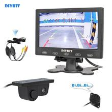 Car-Monitor Assistance-System Parking-Radar-Sensor Touch-Button Rear-View 7inch Wireless
