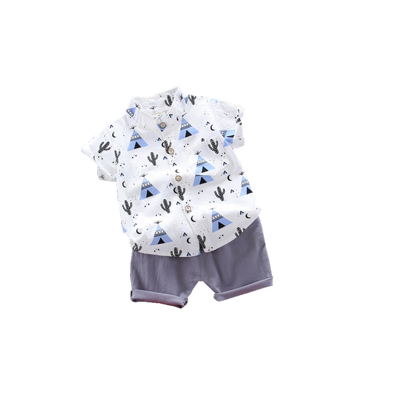 summer Children's suit Clothes Sets  children's clothing  Boys and girls Short sleeve shirt and Pants 2 pieces Clothing sets 5