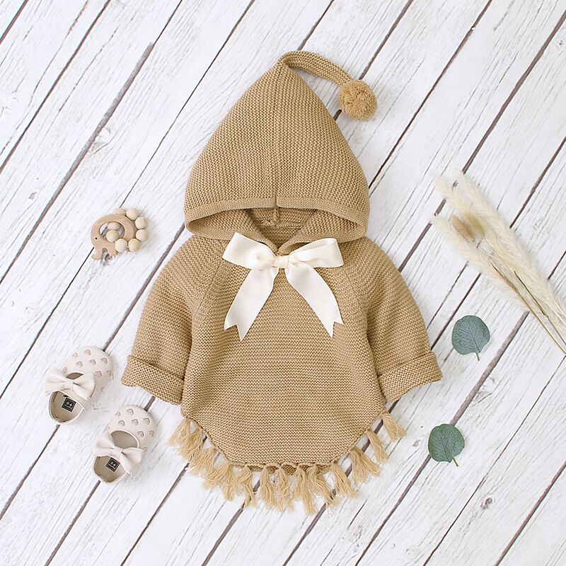 Baby Boy Clothes Winter Toddler Baby Sweaters Kids Boys Girls Sweatshirt Hoodie Cloak Knit  Sweater  For Newborn 1 2 3 Age 3