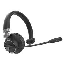 Auricolare senza fili Con Il Tasto Mute Bluetooth 5.0 Ricaricabile Calling Portable Ergonomico Noise Cancelling Trucker Ufficio Affari