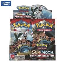 324 카드 포켓몬 TCG: Sun & Moon 크림슨 침략 봉인 된 부스터 박스 Collectible Trading Card Game