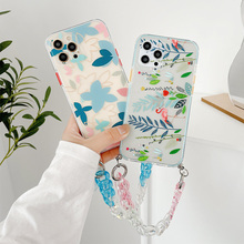 Flamingo Bracelet Phone Cases For iphone 12 11 Pro XS Max XR 7 8 Plus SE 2020 12 Mini Leaf Clear Chain Soft TPU Back Cover Shell