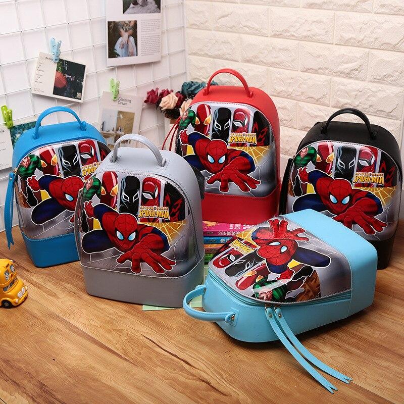 Spider-Man Silica Gel Bag Children Backpack Waterproof Silica Gel Bag Car Silica Gel School Bag