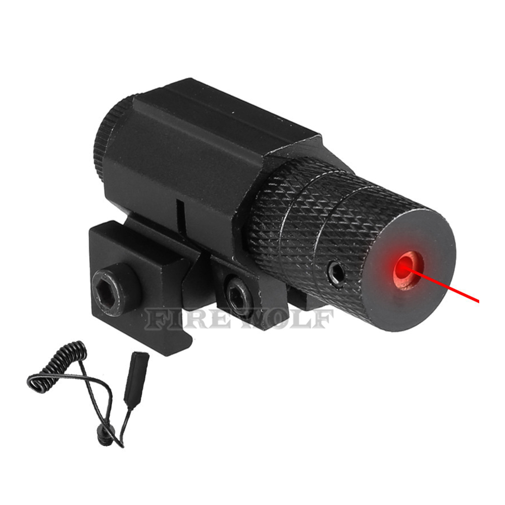 Tactical Red Dot Mini Red Laser Sight With Tail Switch Pistol Lengthen Rat Tail Hunting Optics Lazer Mount