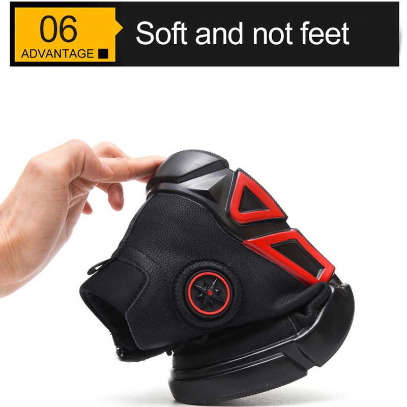 Su geçirmez kış güvenliği iş çelik ayak ayakkabı erkek botları kadife yumuşak rahat koruyucu Anti Smashing delinme geçirmez açık havada