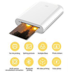 Image 2 - חדש Xiaomi Mijia AR מדפסת 300dpi נייד תמונה מיני כיס עם נתח DIY 500mAh תמונה מדפסת כיס עבודה עם Mijia APP
