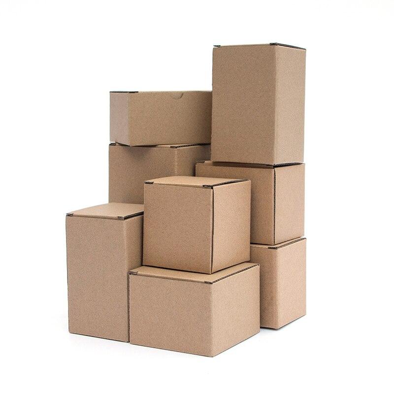 10pcs / kraft paper box rectangular black pink gift box 3-layer corrugated paper packaging small box custom size/printing logo