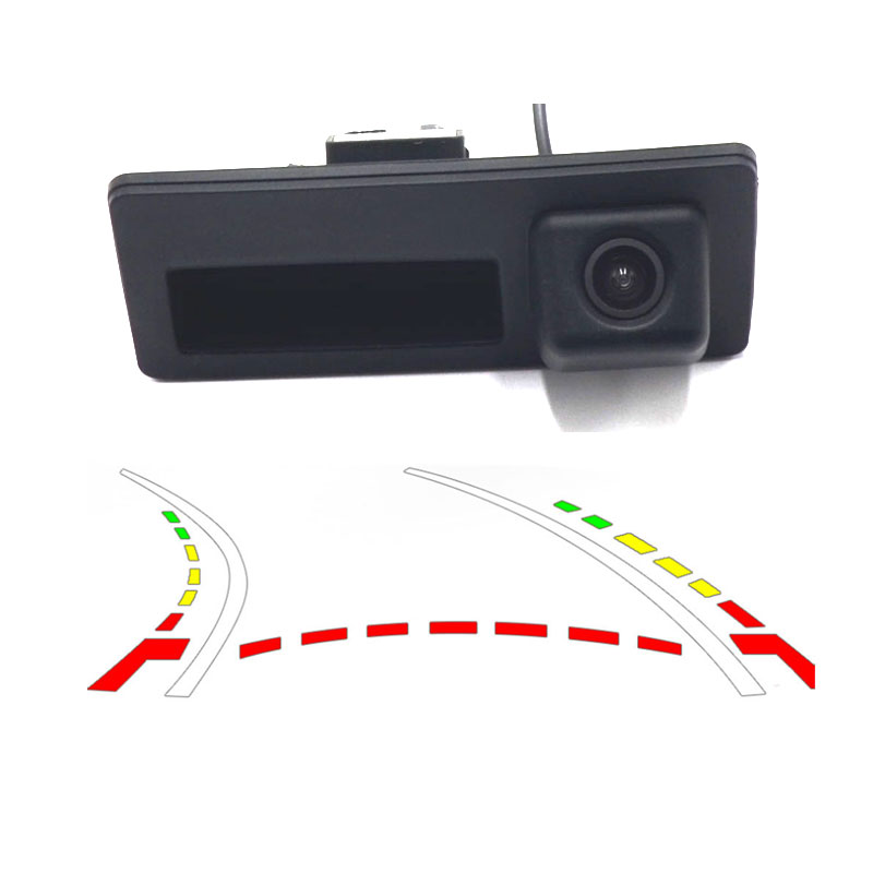Wired  Car Rear View Camera For Audi For VW Passat Tiguan Golf Touran Jetta Sharan Touar Static / Dynamic Trajectory