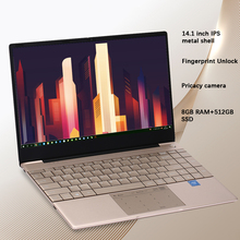 K2 All metal 14.1 inch IPS Screen 8GB RAM 512GB 256GB SSD Fingerprint Notebbok Full Size backlit laptop Windows 10 Office Game