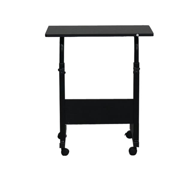 Removable E1 15MM Chipboard & Steel Side Table With Baffle Black S And  Wood Color S, Stylish Study Table Laptop Standing Desk.
