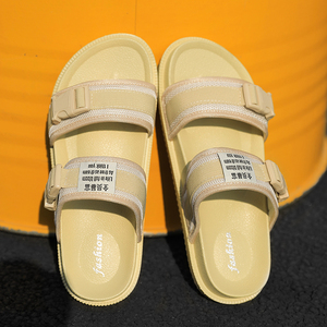 Image 1 - 2019 Summer Man Sandals Women Sandals Men Light Shoes Black Yellow Fashion Leisure Breathable Hot Sale Lover Slippers Sneakers