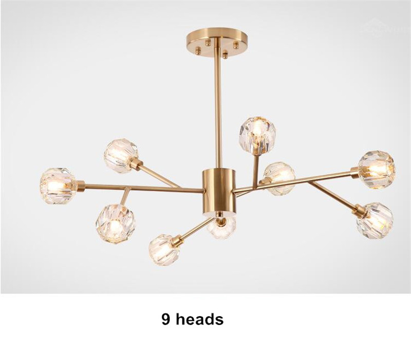 H8935b84bee6a48e59c7ea790743284c9e Flush Mount Ceiling Light | Ceiling Lamp | New crystal ball ceiling Lighting Gold branch design lustres ceiling lamp for living dining room cristal lighting fixtures Voltage 85-265V