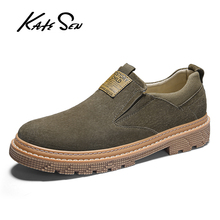 цены KATESEN men shoes england Trend Genuine Leather shoes Male Footwear Set Foot Men's Casual shoes Outdoors Man Flats Work Shoes