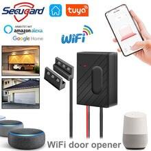 SECUGARD Tuya Garage WiFi Garage Door Opener Remote Control For Gate Tuyasmart Smart Life Alexa Echo Google Home APP Control