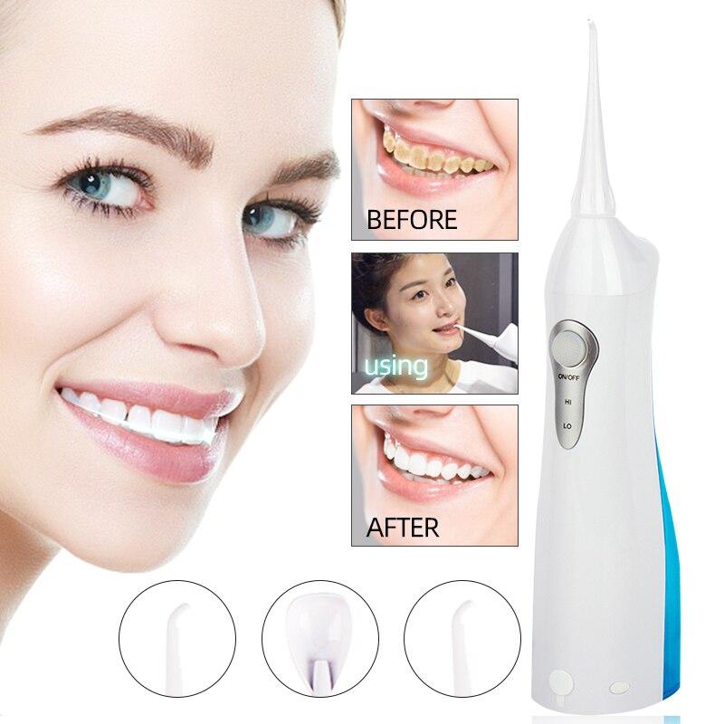 Oral Irrigator USB Rechargeable Water Flosser Portable Dental Water Jet 150ML Water Tank Waterproof Teeth Cleaner Nursing Tool