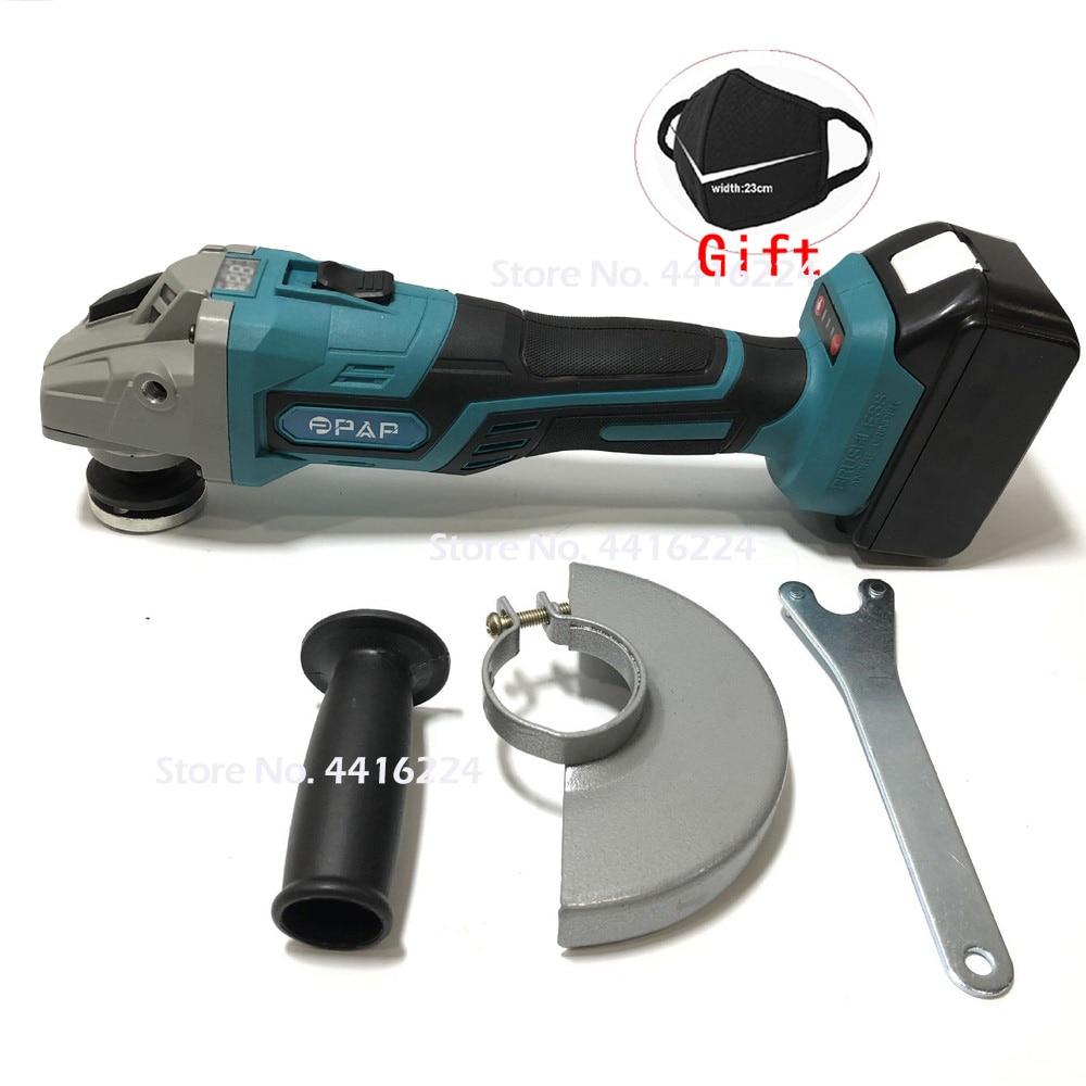 1380W 100-240V Brushless Cordless Impact Angle Grinder Head Tools Kit Polishing Machine Angular Finishing Grinder