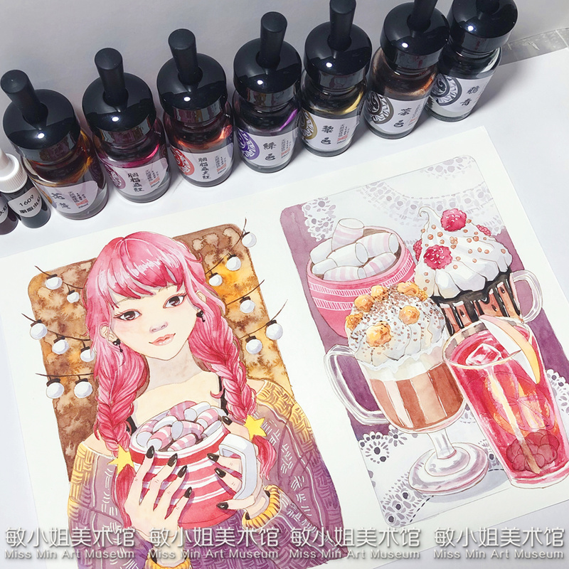Super Vision Watercolor Ink 20ml Bottled Aquarel Aquarelle Animal And Plant Liquid Acuarela Wasserfarbe Suluboya For Art Supply