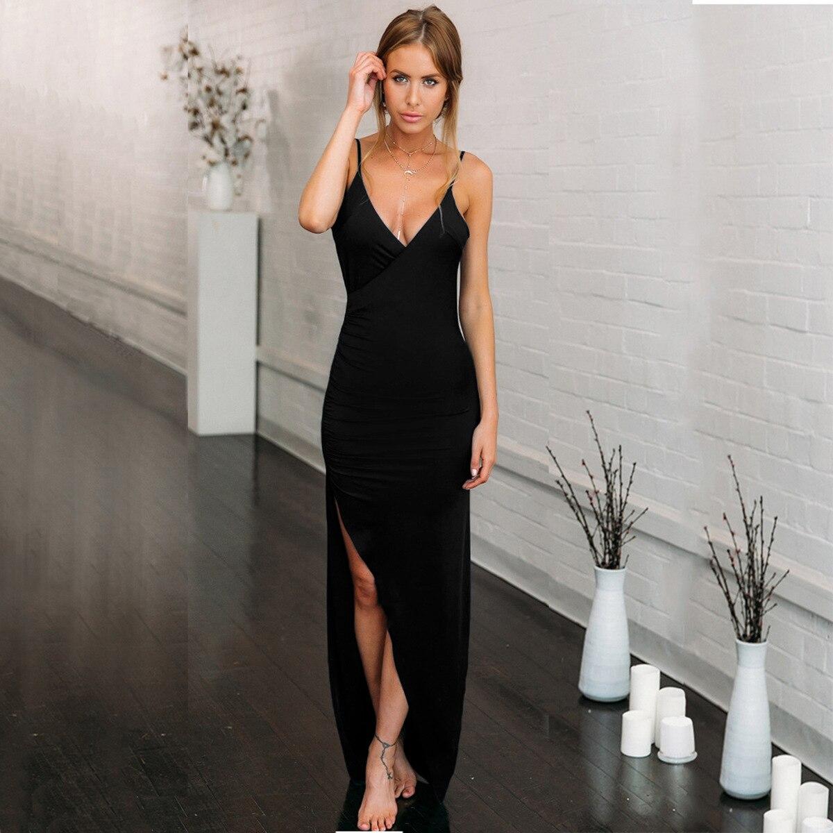 Женские летние платья 2021 V образным вырезом с низким вырезом на спине халатик Клубное сексуальное длинное платье женское тонкое вечерние Сп...