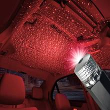 New Car USB LED Car Atmosphere Ambient Star Light DJ Red Star Ceiling Projection Lamp Christmas Interior Decorative Light usb led car atmosphere ambient star light rgb colorful home dj lamp christmas decorative interior light