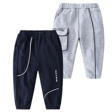 Chłopięce spodnie trwała bawełna nastoletnia odzież dziecięca chłopięce spodnie dziecięce Autunm i zimowe chłopięce spodnie dresowe chłopięce 2-6Yrs tanie tanio JX·YSY COTTON CN (pochodzenie) Luźne Chłopcy Kieszenie Pełnej długości Pasuje prawda na wymiar weź swój normalny rozmiar
