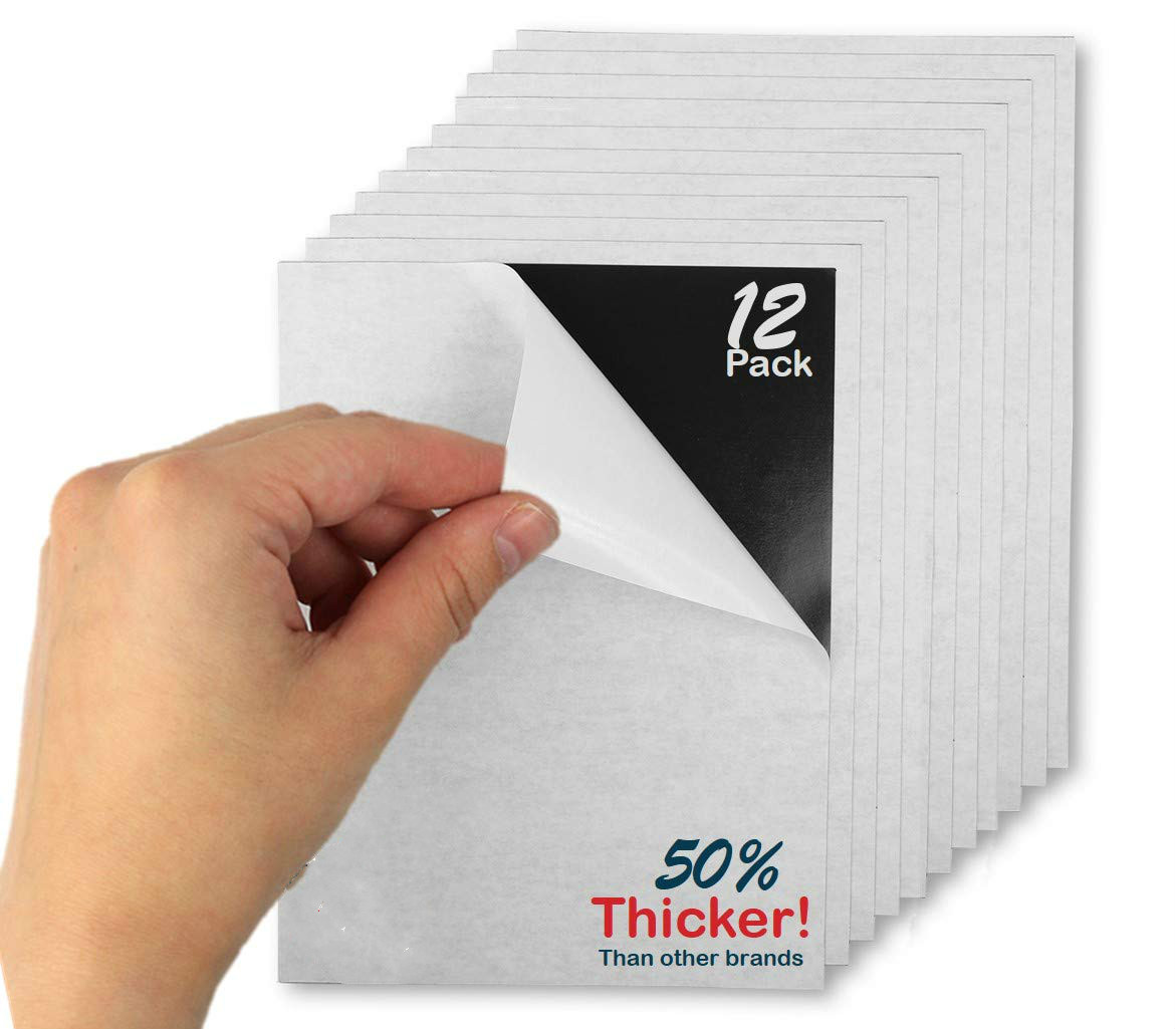 1/3/5/10pcs Flexible Adhesive Magnetic Sheets Board Roll 0.5mm For Spellbinder Thin Photos Stamp Dies Craft 297x210mm / 8x10inch