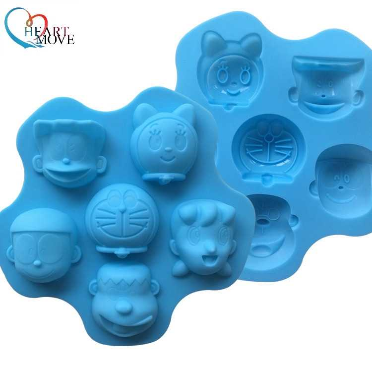 Nieuwe Diy Voor Cartoon Doraemon Familie Portret Cakevorm Sweet Candy Jelly Cake Fondant Chocolade Mold Silicone Hulpmiddel Baking Pan