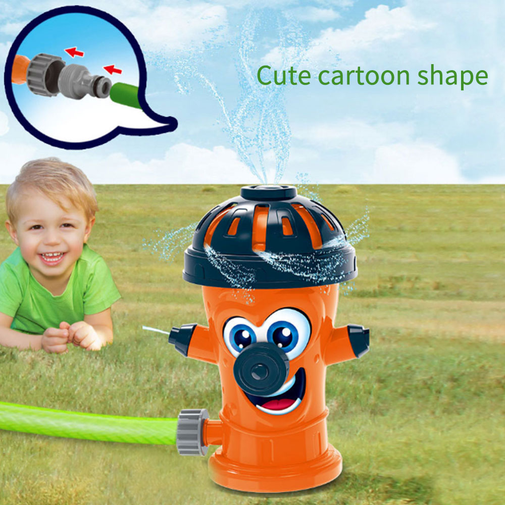 Outdoor Rotating Water Spray Toy Cute Simulation Fire Hydrant Water Sprayer Kid's Garden Water Play Game Birthday Present