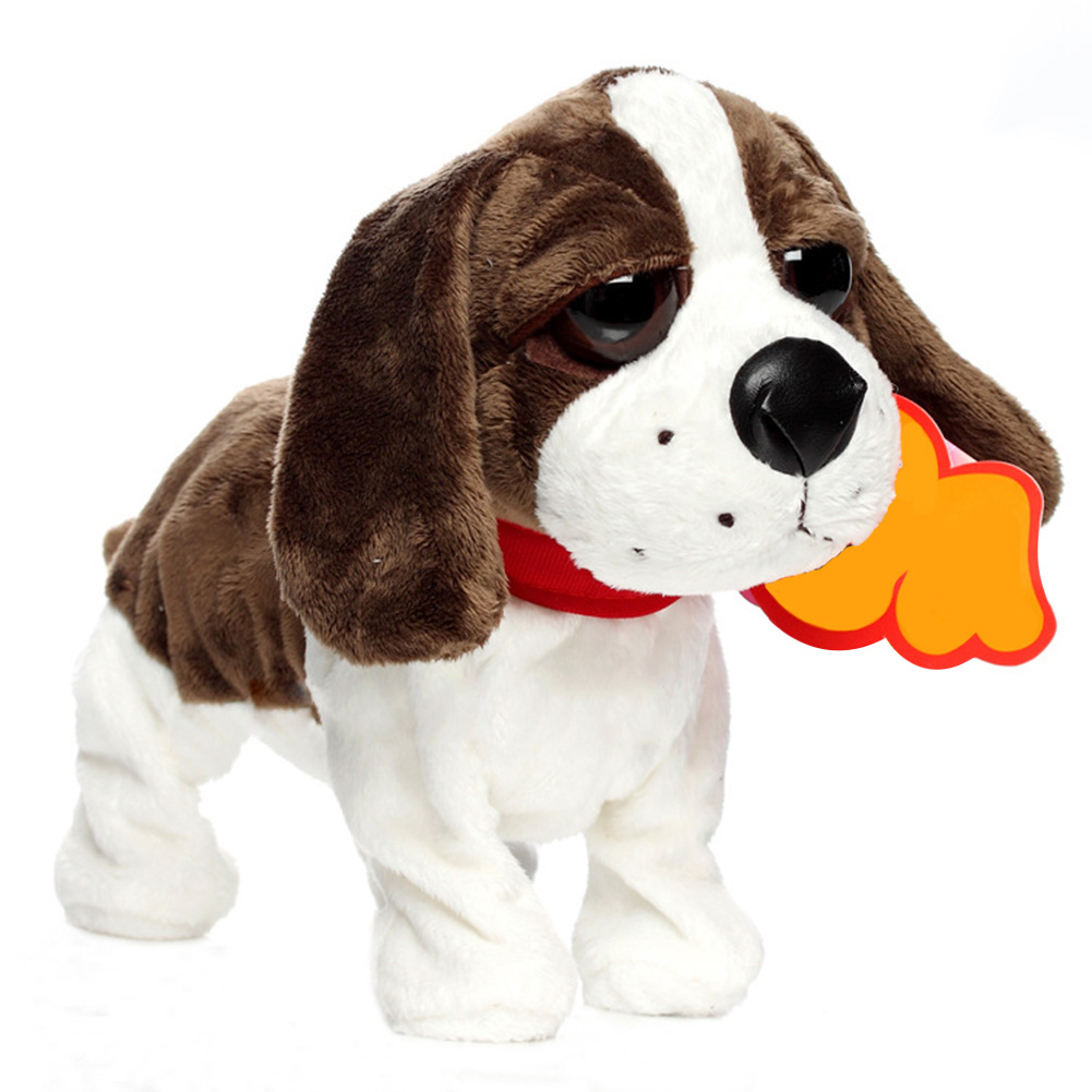 Pets Interactive Walk Robot Dog Funny Electric Toy Children Cute Bark Sound Control Intelligent Stand