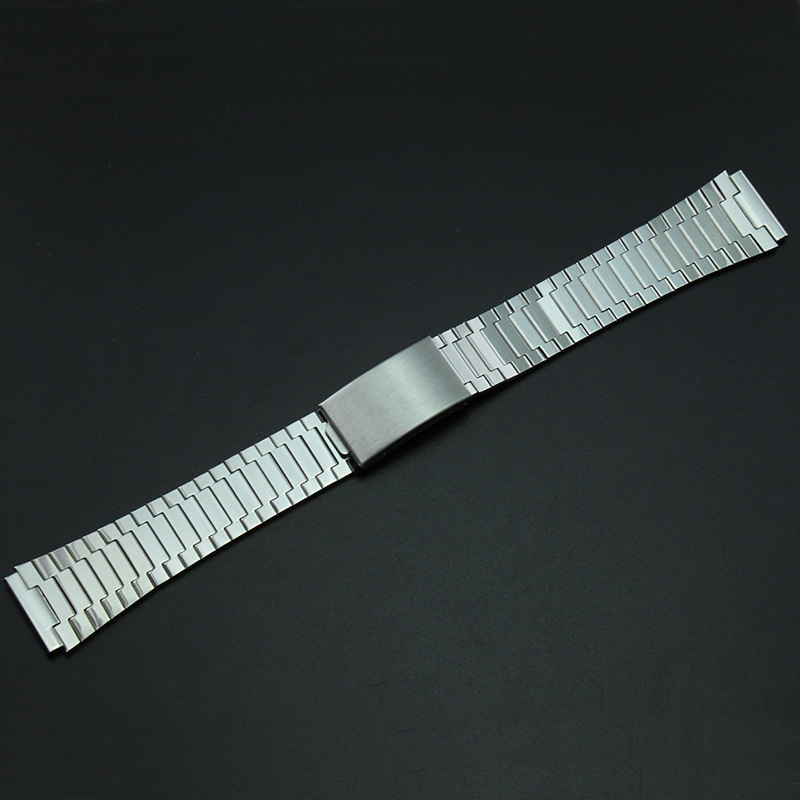Watch Accessories Watch Band Stainless Steel Watch Strap Stainless-Steel Bracelet MEN'S Watch with 19mm Flat Watch Strap