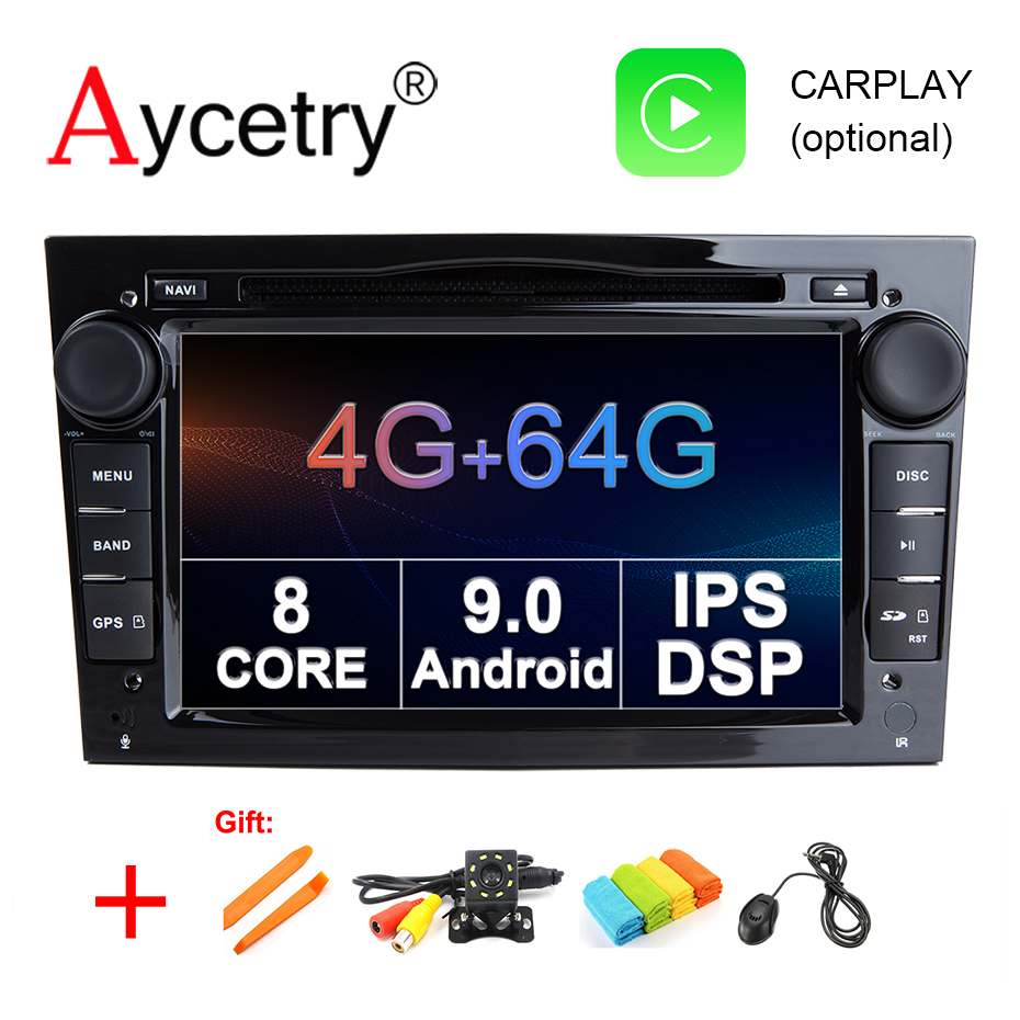 For Opel Astra H G J Vectra Antara Zafira Corsa 2 din android 9.0 4G 64G car multimedia player dvd GPS radio stereo obd2 DVR DSP-in Car Multimedia Player from Automobiles & Motorcycles    1