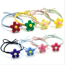 2019 New Head Rope Cute Flower Contrast Color Girl Korea Banquet Party Decoration