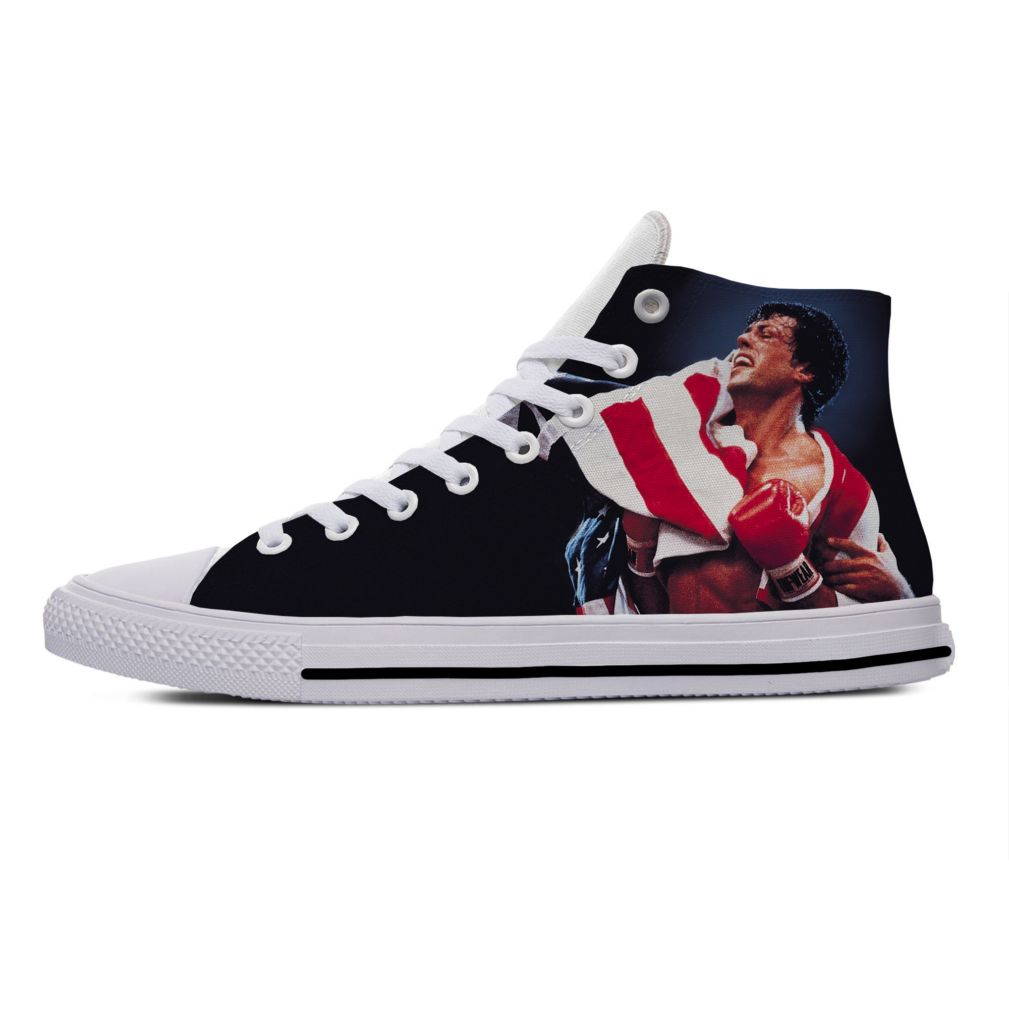 Boxing Box Movie rocky balboa Fashion Funny Cool Casual Canvas Shoes High Top Lightweight Breathable 3D Print Men women Sneakers image