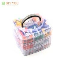 Комплекты разъемов для проводов в штучной упаковке, универсальный компактный электрический клеммный блок, светодиодное освещение, пружинная проводка, быстрые разъемы