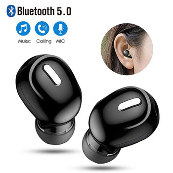 X9 Mini 5.0 Bluetooth Earphone Sport Gaming Headset with Mic Wireless headphones Handsfree Stereo Earbuds For Xiaomi All Phones image