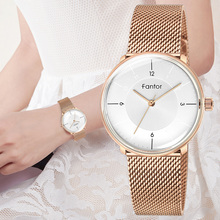 Fantor Watch Ladies Luxury Brand Rose Gold Mesh Elegant Waterproof Casual Dress Wristwatch Women Fashion Quartz Watches Clock
