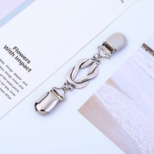 Sweater Shawl Clips Cardigan Connection Pin Women Girls Collar Shawls Blouse Clip Alloy Clasps(China)