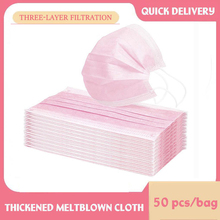 Mouth-Mask Medical-Face-Mask Disposable Adult 3-Layer Non-Woven Pink Anti-Dust In-Stock