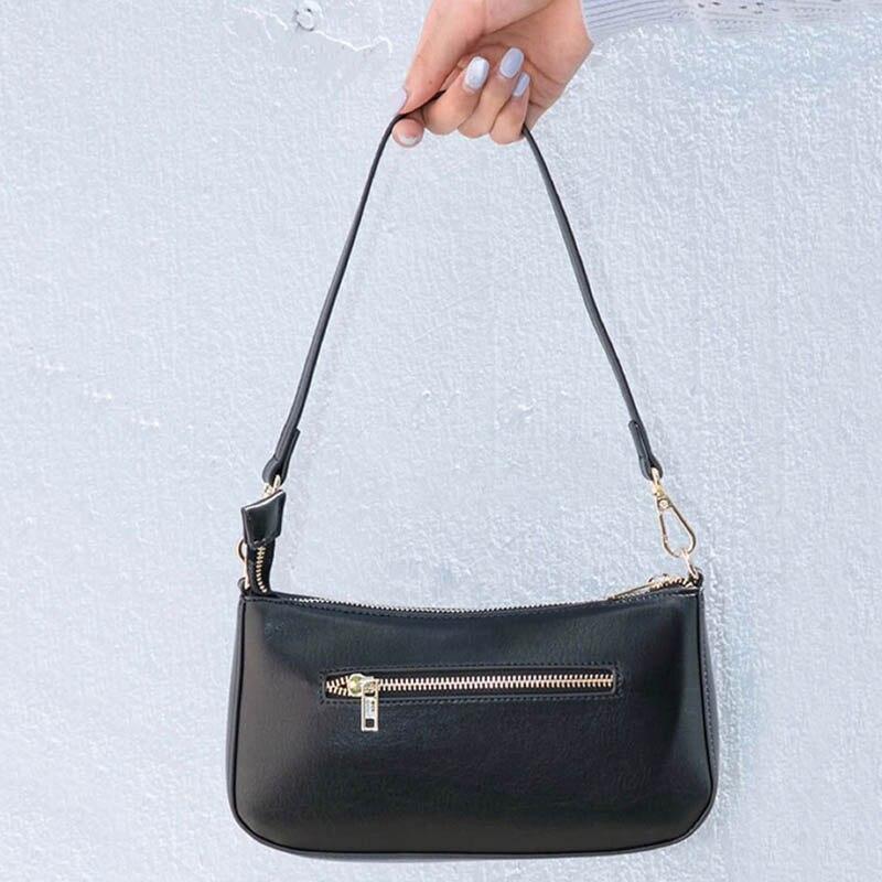 Women Vintage Baguette Bag Canvas Small Shoulder Bag Ladys Fashion Subaxillary Bags Luxury Style Handbag Bella